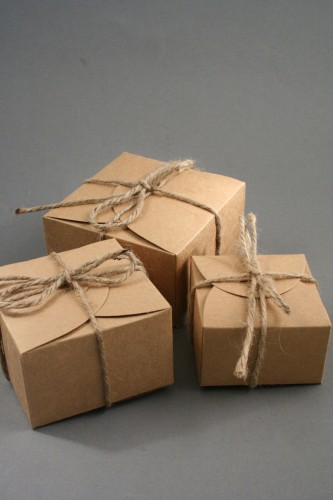 Natural Brown Kraft Paper Boxes